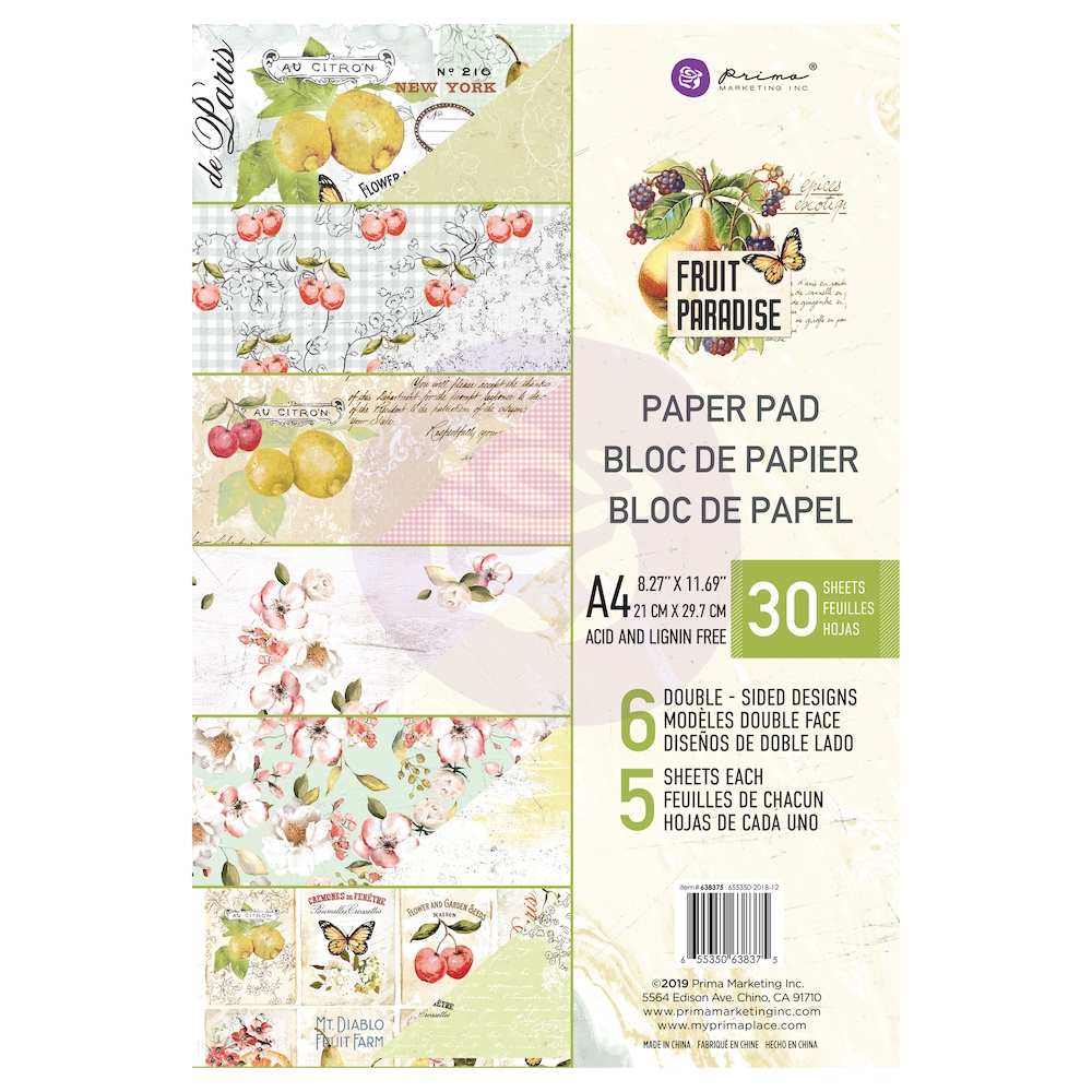 Prima Marketing A4 Paper Pad FRUIT PARADISE 638375 zoom image