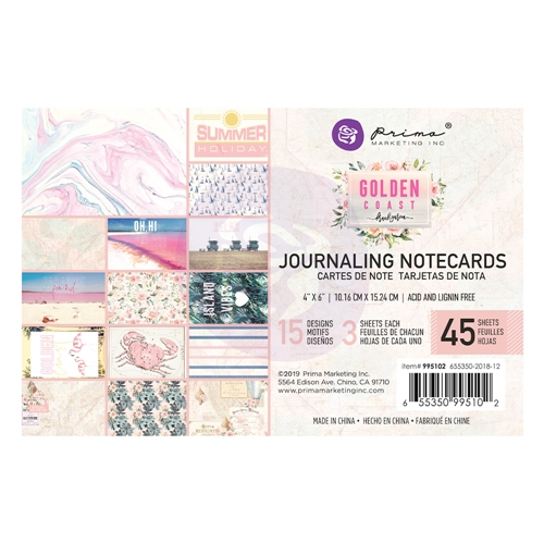 Prima Marketing GOLDEN COAST 4 X 6 Journaling Cards Pad 995102 Preview Image
