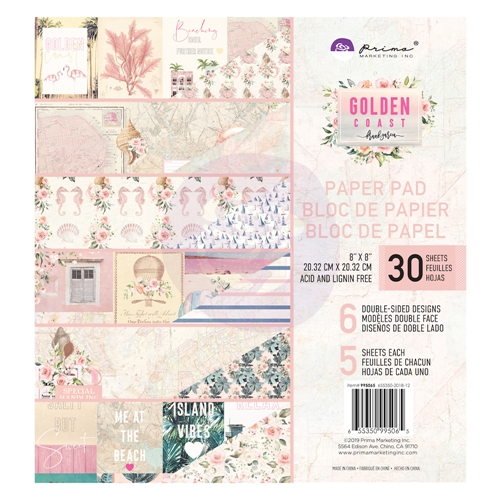 Prima Marketing GOLDEN COAST 8 x 8 Paper Pad 995065 Preview Image