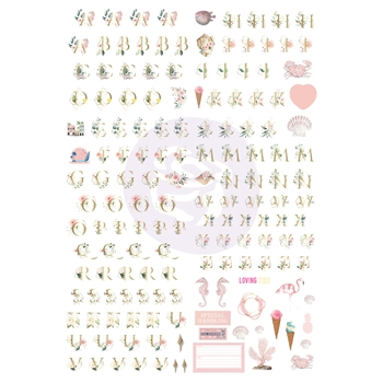 Prima Marketing GOLDEN COAST Alphabet Stickers 995119