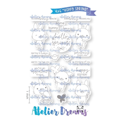 Atelier Dreams HOPPY SPRING Clear Stamp Set ad090 Preview Image