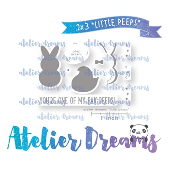 Atelier Dreams LITTLE PEEPS Clear Stamp Set adm056