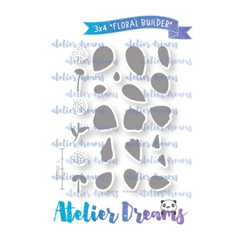Atelier Dreams FLORAL PATTERN Clear Stamp Set adg040
