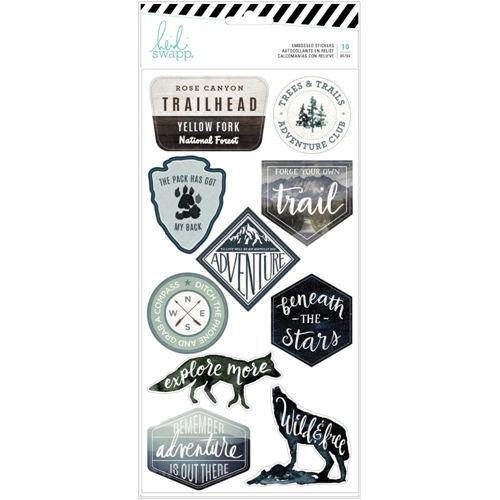 Heidi Swapp WOLF PACK Embossed Stickers 314702 Preview Image