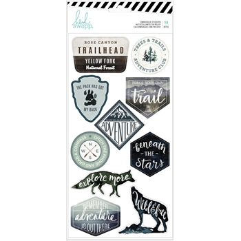 Heidi Swapp WOLF PACK Embossed Stickers 314702