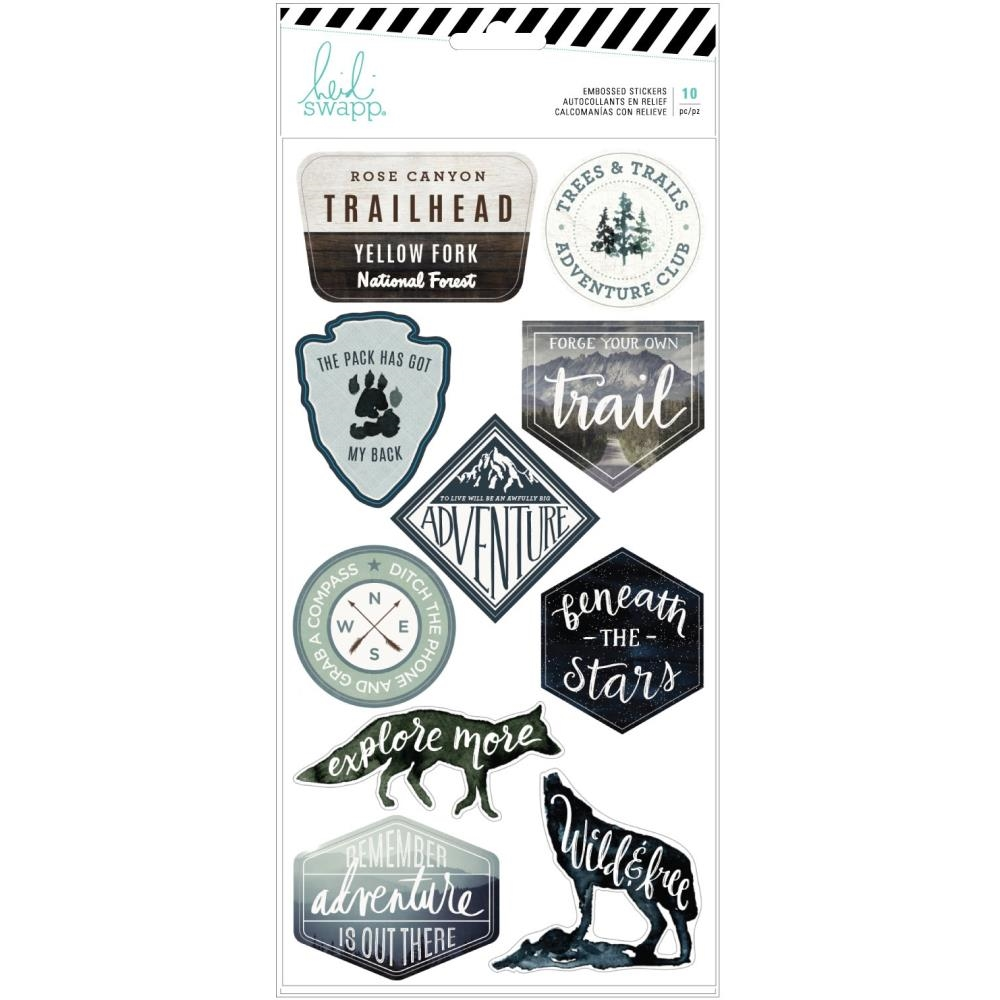 Heidi Swapp WOLF PACK Embossed Stickers 314702 zoom image