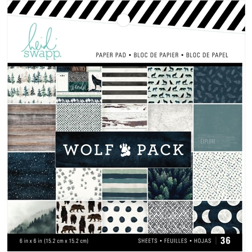 Heidi Swapp WOLF PACK 6 x 6 Paper Pack 314694 Preview Image