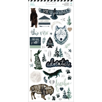 Heidi Swapp WOLF PACK 6 x 12 Stickers 314696
