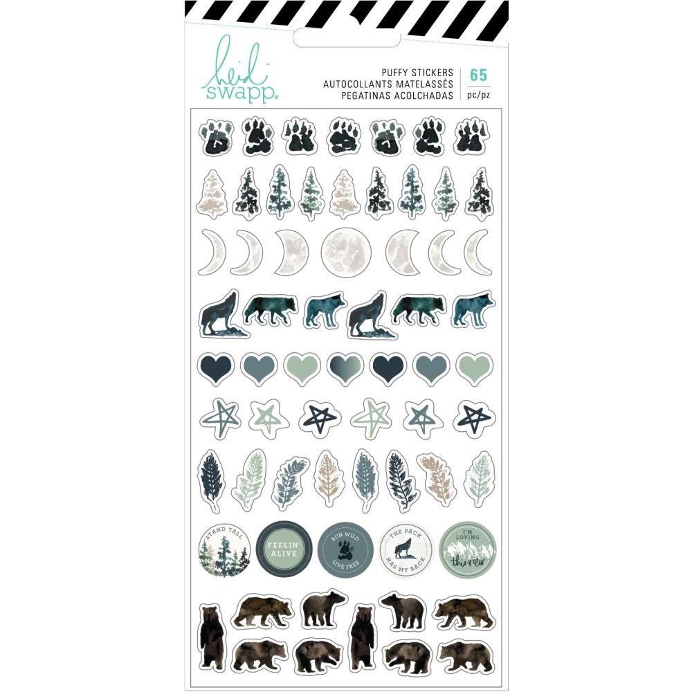 Heidi Swapp WOLF PACK Puffy Stickers 314699 zoom image