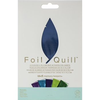 We R Memory Keepers PEACOCK Foil Quill Sheets 660673