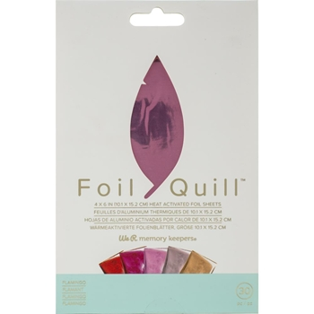 We R Memory Keepers FLAMINGO Foil Quill Sheets 660671