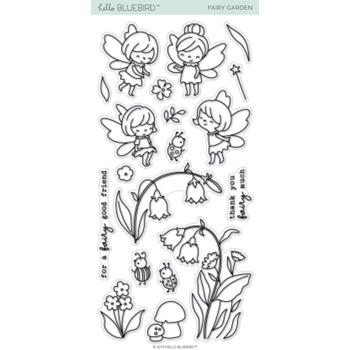 Hello Bluebird FAIRY GARDEN Clear Stamps hb2173