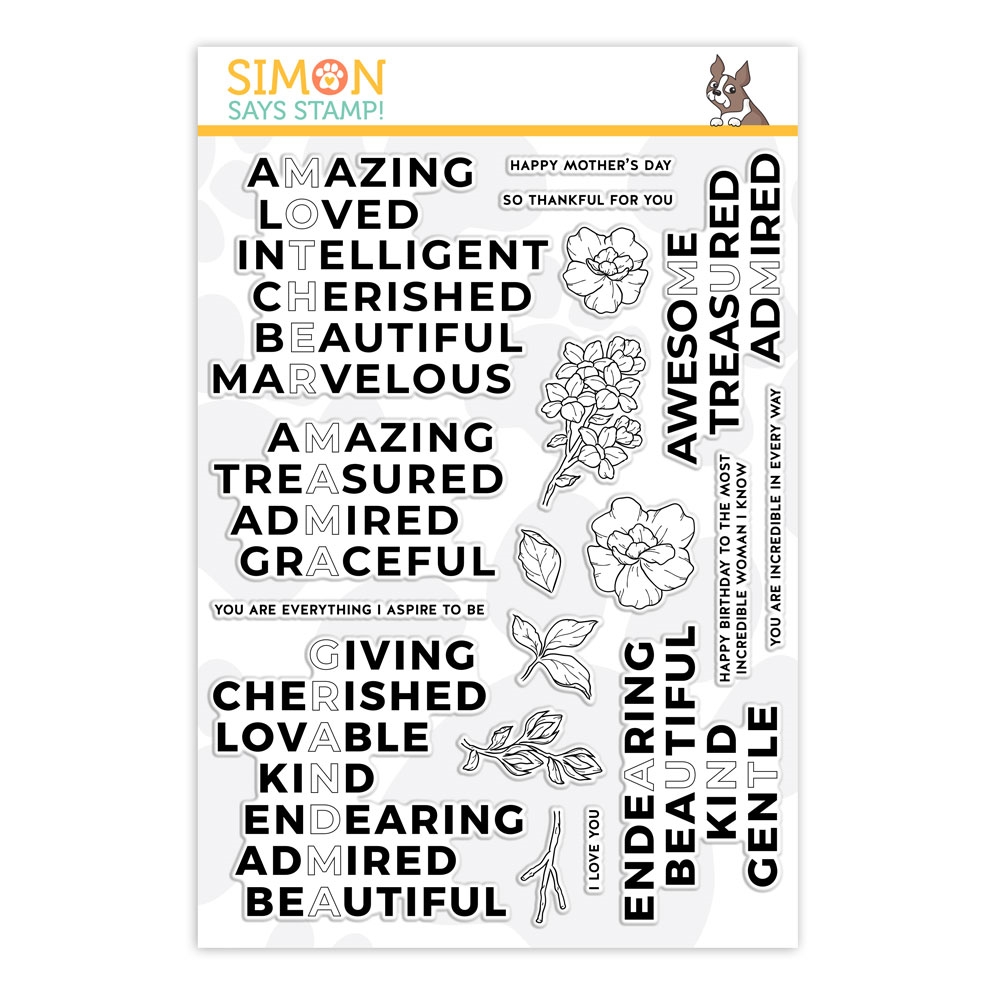 Simon Says Clear Stamps INCREDIBLE WOMAN sss201975 * zoom image