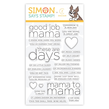 CZ Design Clear Stamps GOOD JOB MAMA CZ33