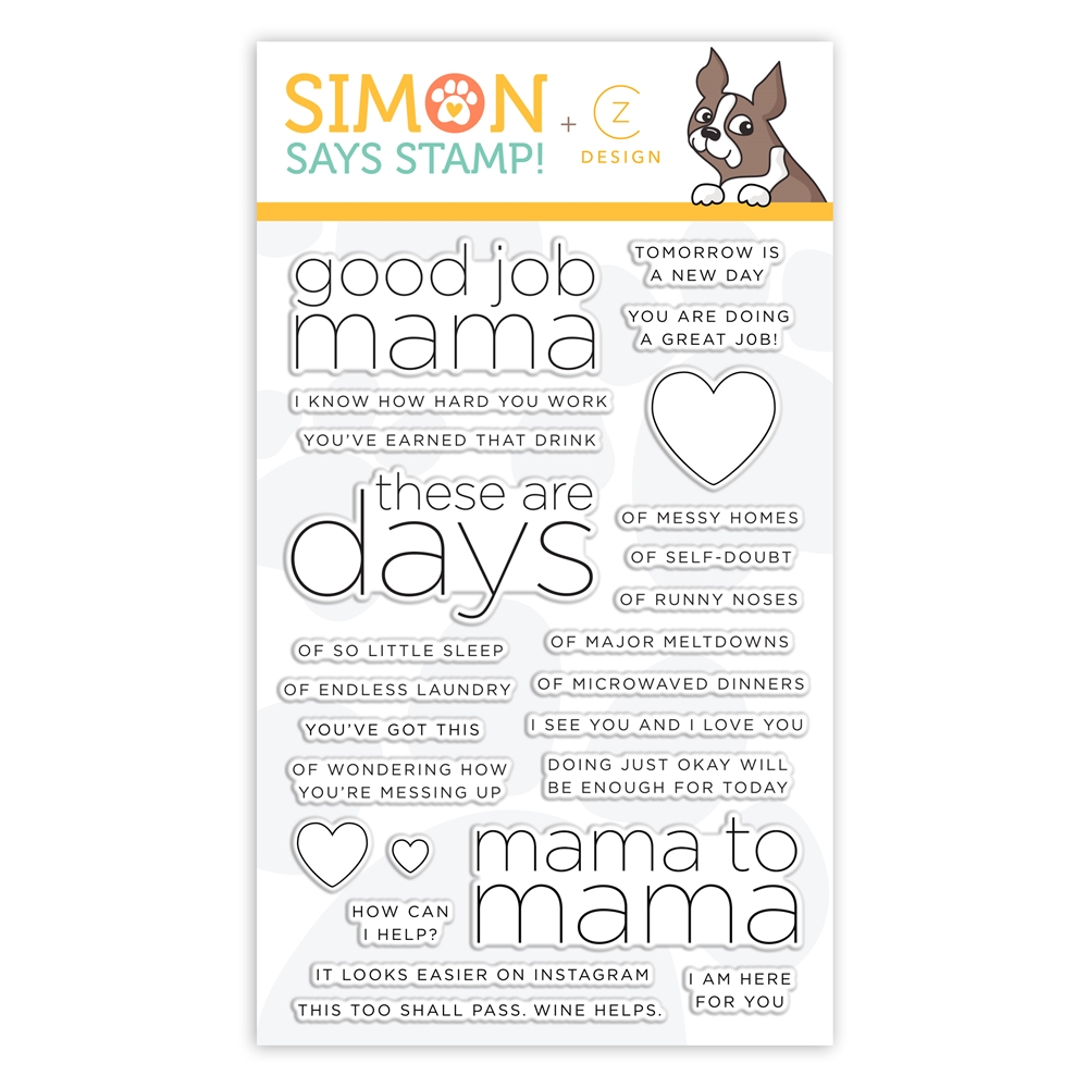 CZ Design Clear Stamps GOOD JOB MAMA CZ33 zoom image