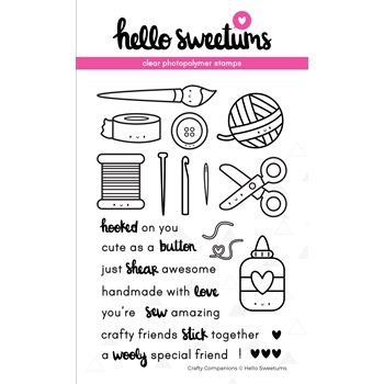 Hello Sweetums CRAFTY COMPANIONS Clear Stamp Set 336400