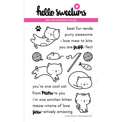 Hello Sweetums FUZZY FELINES Clear Stamp Set 336424 Preview Image