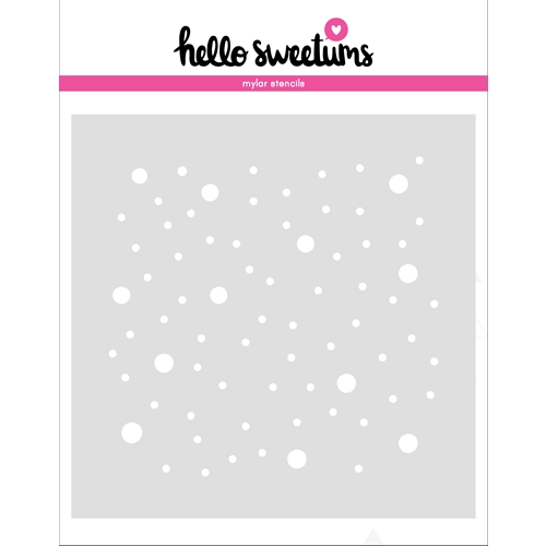 Hello Sweetums SNOWFALL Stencil 336486 Preview Image