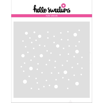 Hello Sweetums SNOWFALL Stencil 336486