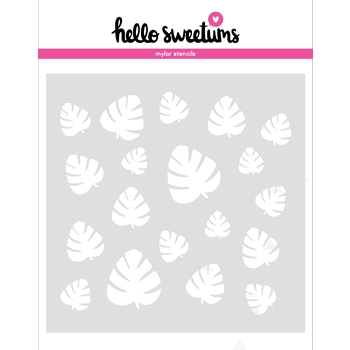 Hello Sweetums FRONDS FOREVER Stencil 629021