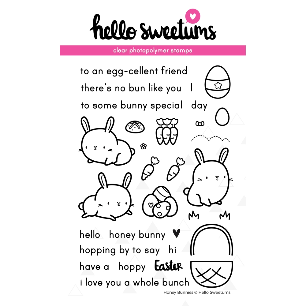 Hello Sweetums HONEY BUNNIES Clear Stamp Set 628994 zoom image