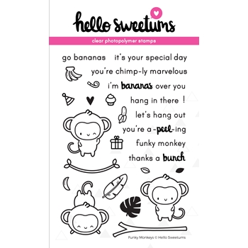 Hello Sweetums FUNKY MONKEYS Clear Stamp Set 629045*