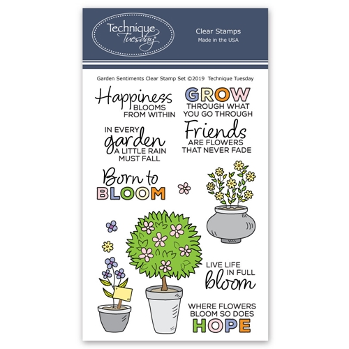 Technique Tuesday GARDEN SENTIMENTS Clear Stamps 2777 Preview Image
