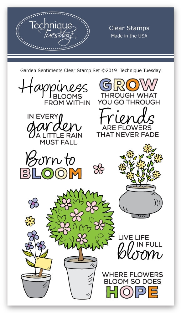 Technique Tuesday GARDEN SENTIMENTS Clear Stamps 2777 zoom image