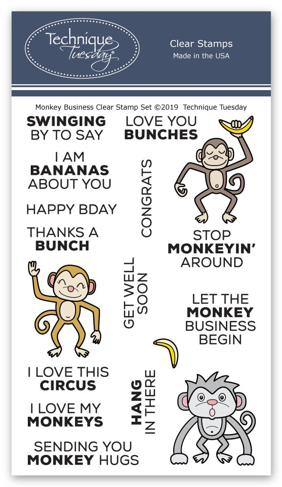 Technique Tuesday MONKEY BUSINESS Clear Stamps 2775 zoom image