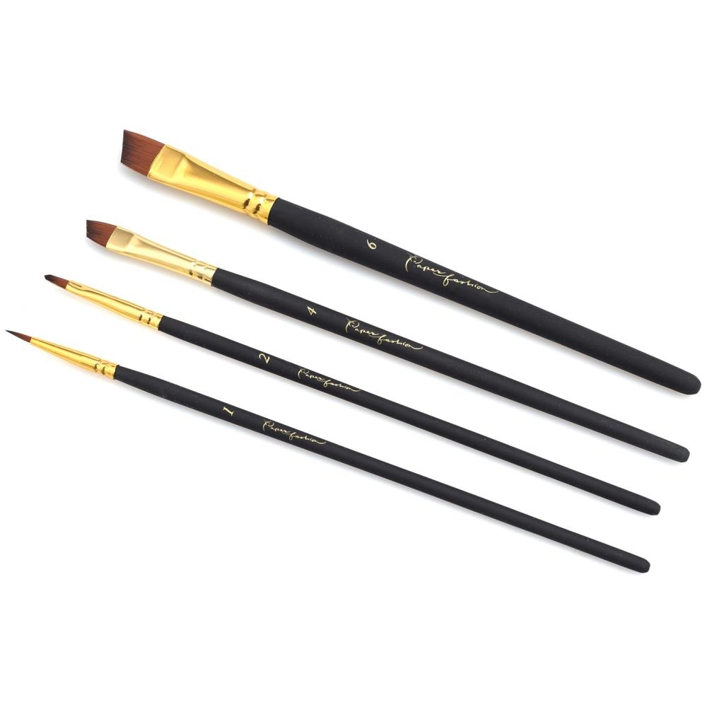 American Crafts Paper Fashion ASSORTED Paint Brush Set 2 349317 zoom image