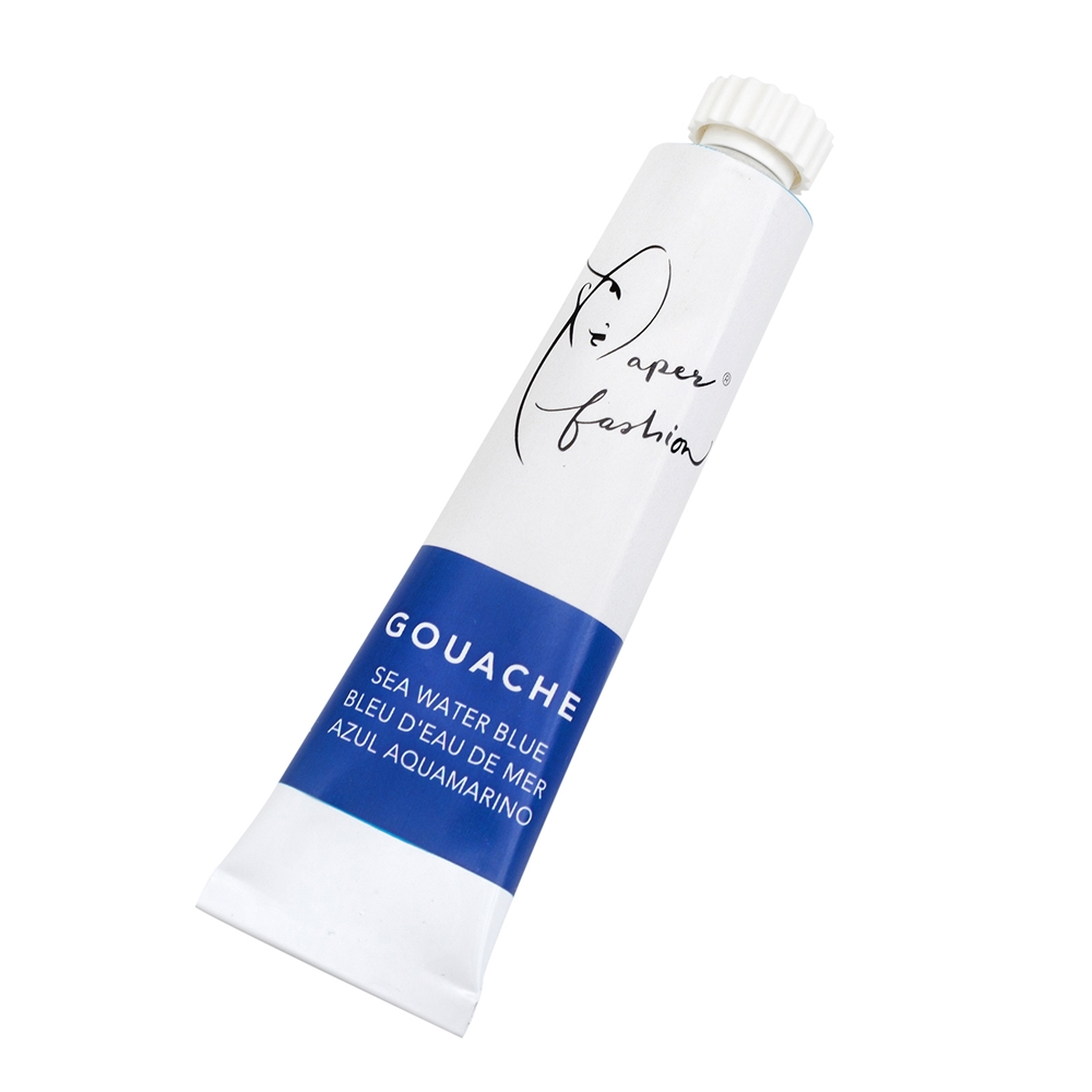 American Crafts Paper Fashion SEAWATER BLUE Gouache Paint 349334 zoom image