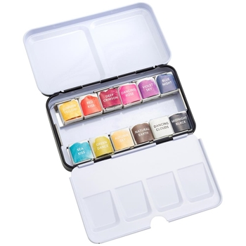 American Crafts Paper Fashion WATERCOLORS Basics Set 349306
