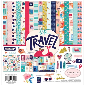 Carta Bella LET'S TRAVEL 12 x 12 Collection Kit cblt100016