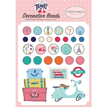 Carta Bella LET'S TRAVEL Decorative Brads cblt100020