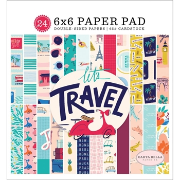 Carta Bella LET'S TRAVEL 6 x 6 Paper Pad cblt100023