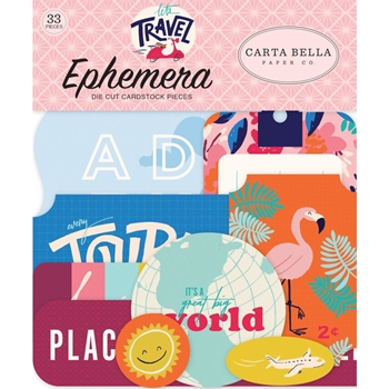 Carta Bella LET'S TRAVEL Ephemera cblt100024