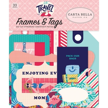 Carta Bella LET'S TRAVEL Frames And Tags Ephemera cblt100025