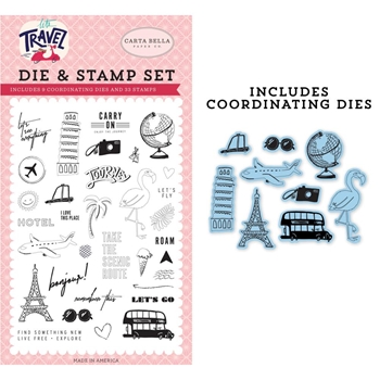 Carta Bella LET'S GO Die And Stamp Set cblt100042