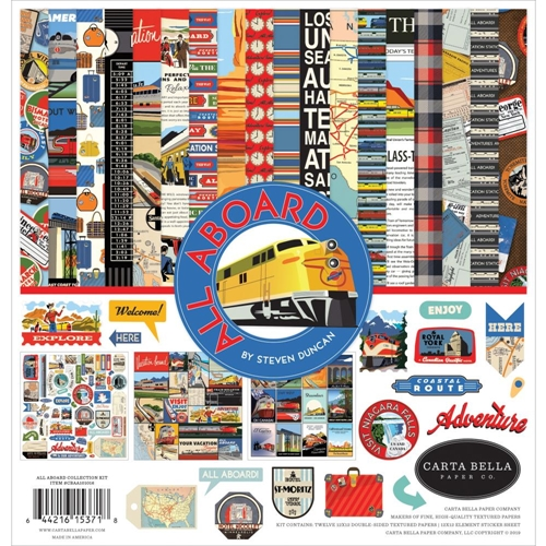 Carta Bella ALL ABOARD 12 x 12 Collection Kit cbaa101016* Preview Image