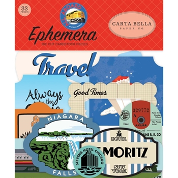 Carta Bella ALL ABOARD Ephemera cbaa101024*
