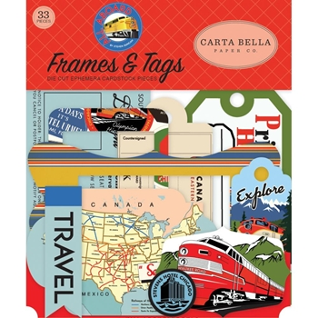 Carta Bella ALL ABOARD Frames And Tags Ephemera cbaa101025*