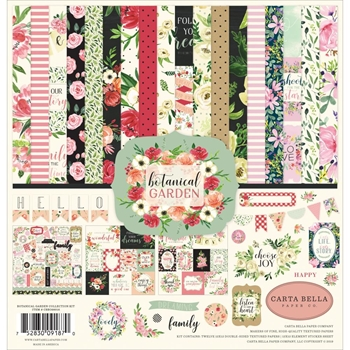 Carta Bella BOTANICAL GARDEN 12 x 12 Collection Kit cbbo98016
