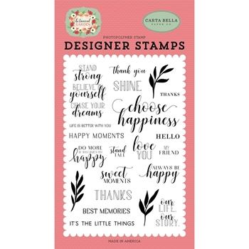 Carta Bella STAND TALL Clear Stamp Set cbbo98040