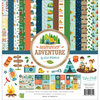 Echo Park SUMMER ADVENTURE 12 x 12 Collection Kit sa180016