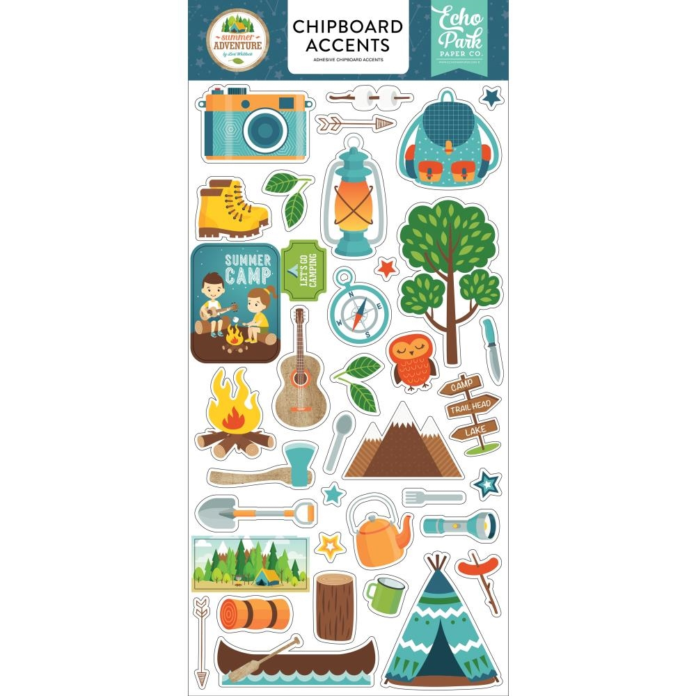 Echo Park SUMMER ADVENTURE Chipboard Accents sa180021 zoom image