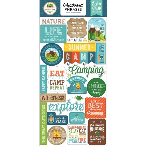 Echo Park SUMMER ADVENTURE Chipboard Phrases sa180022 Preview Image