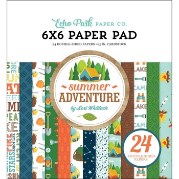 Echo Park SUMMER ADVENTURE 6 x 6 Paper Pad sa180023