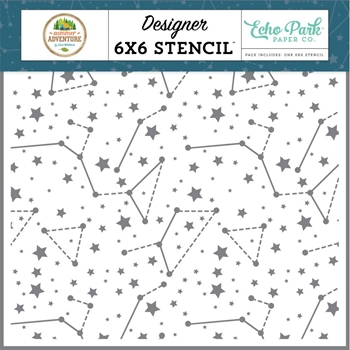 Echo Park SKY CONSTELLATIONS 6 x 6 Stencil sa180033