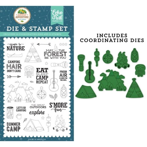 Echo Park ESCAPE TO NATURE Die And Stamp Set sa180045 Preview Image