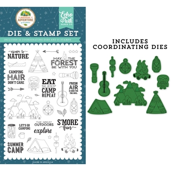 Echo Park ESCAPE TO NATURE Die And Stamp Set sa180045*